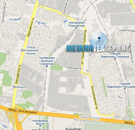 Схема проезда в МеталлТекСервис